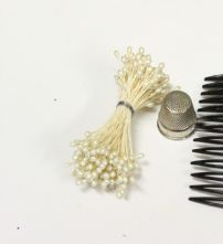 Bunch of Double Ended Pearl 2mm Flower Making Peps